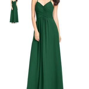 Azazie Bridesmaid Dress - Dark Green Chiffon
